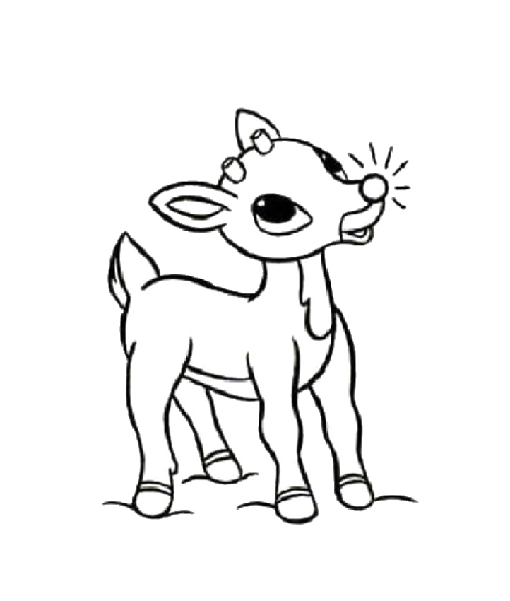 reindeer coloring pages free | Christmas Coloring Pages & Games - myWorldWeb